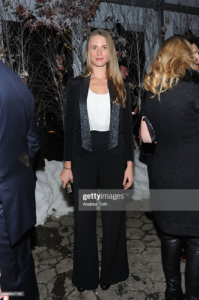 Model Julie Henderson attends Barneys New York 'Baz Dazzled' holiday window unveiling dinner at Central Park Zoo on November 13 2014 in New York City