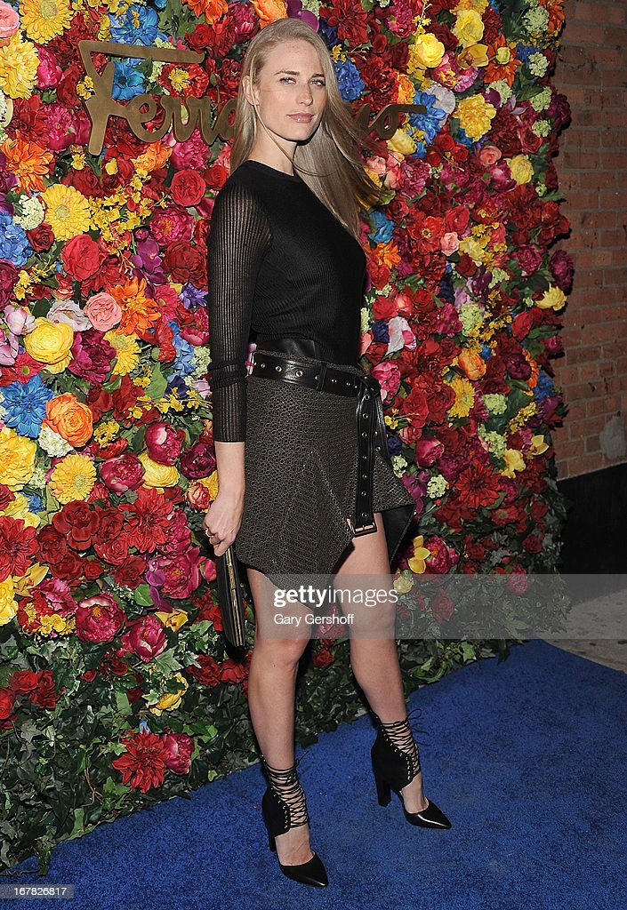 Model Julie Henderson attends Ferragamo Celebrates The Launch Of L'Icona Highlighting The 35th Anniversary Of Vara at 530 West 27th Street on April 30, 2013 in New York City.