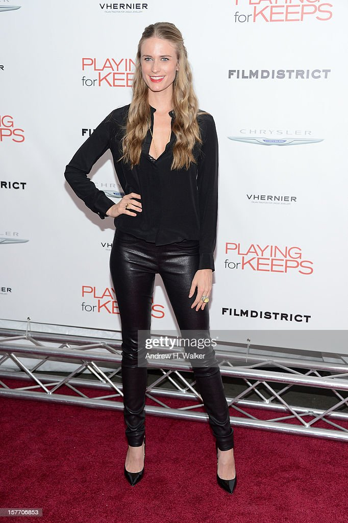 Model Julie Henderson attends FilmDistrict and Chrysler with the Cinema Society Premiere of 'Playing For Keeps' at AMC Lincoln Square Theater on December 5, 2012 in New York City.