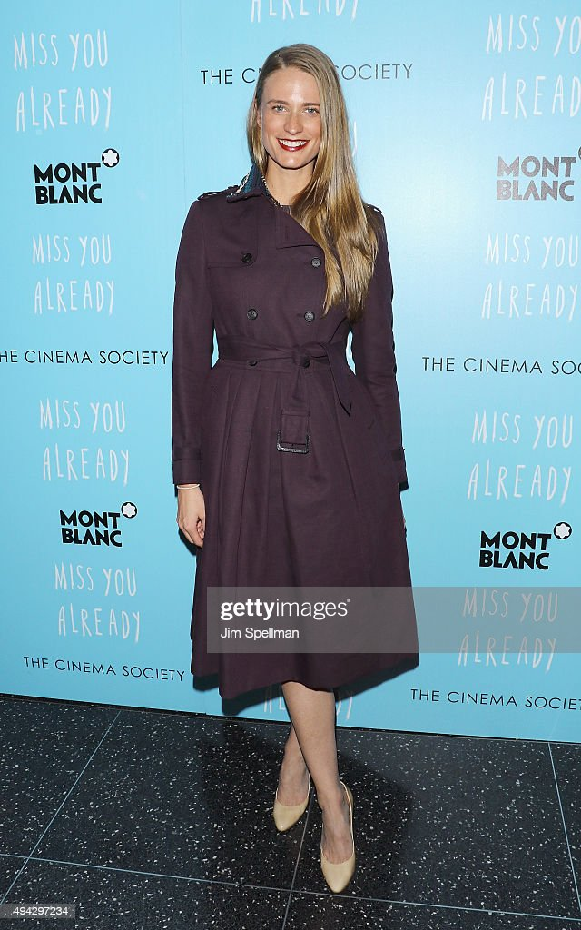 Model Julie Henderson attends Montblanc & The Cinema Society host a screening of Roadside Attractions & Lionsgate's New York premiere of 'Miss You Already' at Museum of Modern Art on October 25, 2015 in New York City.