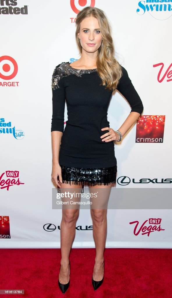 Model Julie Henderson attends Sports Illustrated Swimsuit Launch Party at Crimson on February 12, 2013 in New York City.