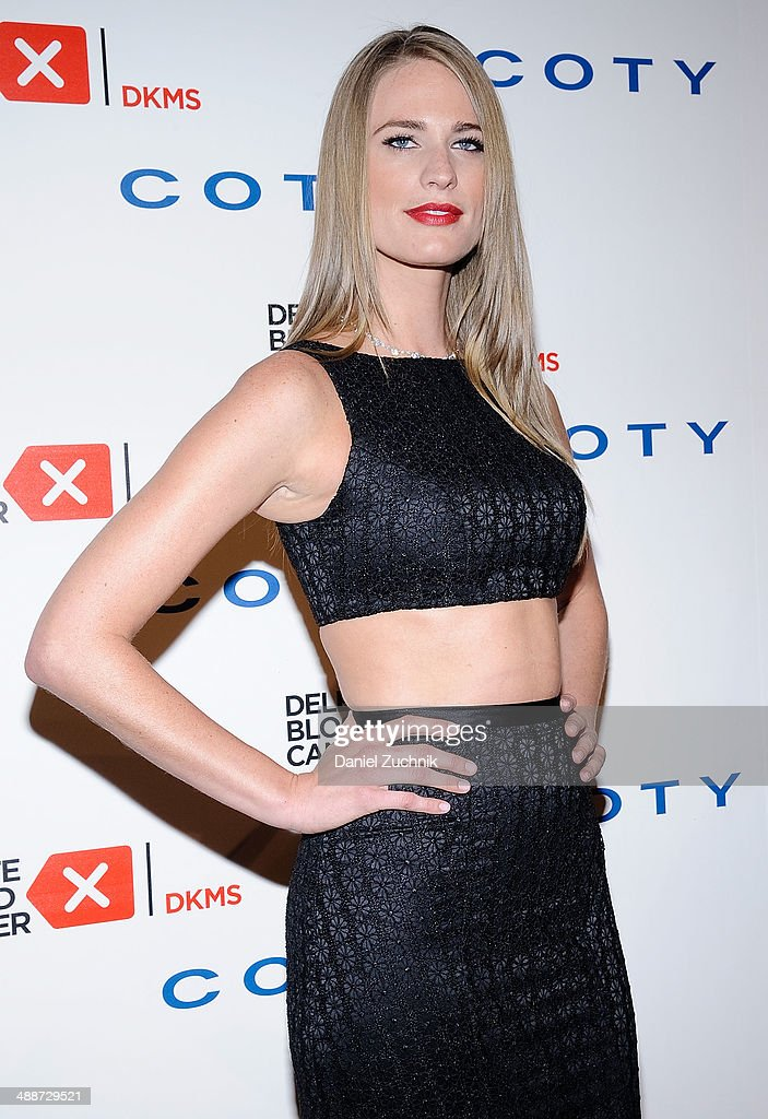 Model Julie Henderson attends the 2014 Delete Blood Cancer Gala at Cipriani Wall Street on May 7, 2014 in New York City.