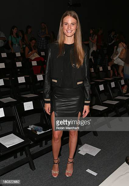Model Julie Henderson attends the Rachel Zoe show during Spring 2014 MercedesBenz Fashion Week at The Studio at Lincoln Center on September 11 2013...
