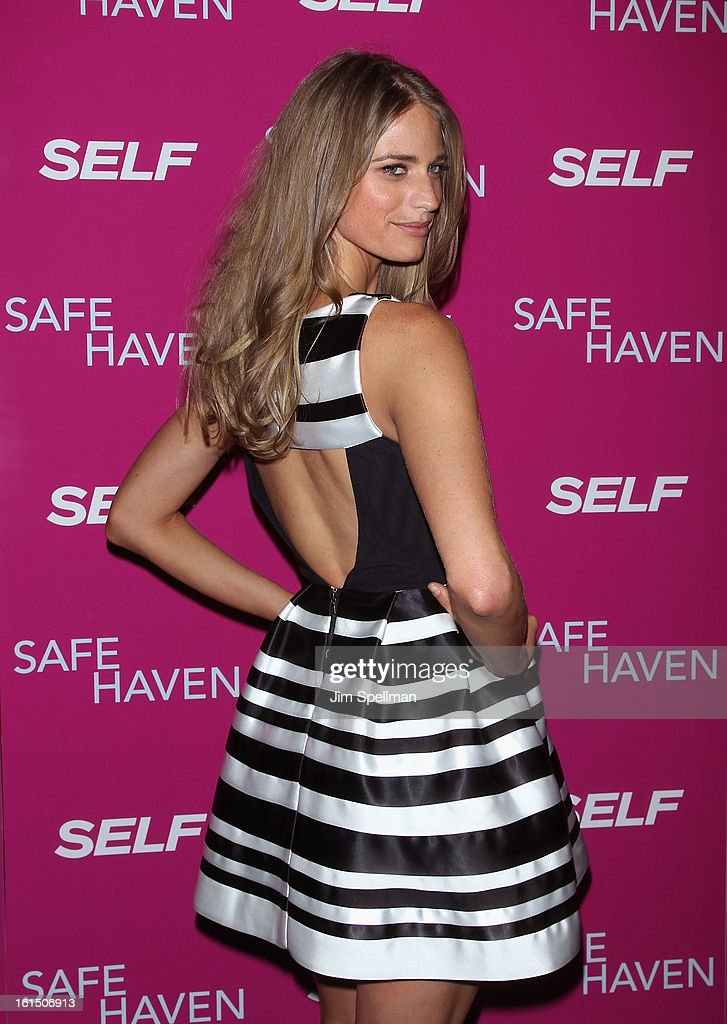 Model Julie Henderson attends the 'Safe Haven' premiere at Landmark's Sunshine Cinema on February 11, 2013 in New York City.