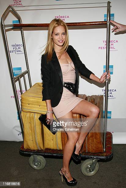 Model Julie Ordon arrives at Premiere Of 'Hotel Gramercy Park' At The 2008 Tribeca Film Festival at Directors Guild Theatre on April 26 2008 in New...