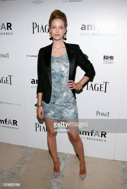 Model Julie Ordon attends the 2010 amfAR New York Inspiration Gala at The New York Public Library on June 3 2010 in New York New York