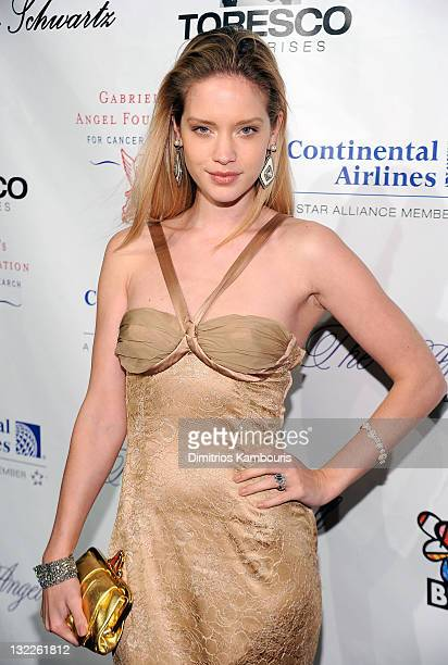 Model Julie Ordon attends the 2010 Angel Ball to Benefit Gabrielle's Angel Foundation at Cipriani Wall Street on October 21 2010 in New York City