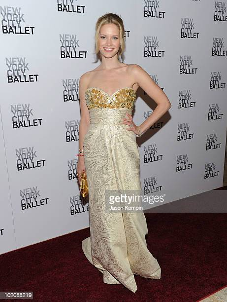 Model Julie Ordon attends the New York City Ballet's 2010 Dance with the Dancers benefit at the David H Koch Theater Lincoln Center on June 14 2010...