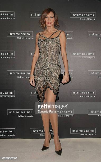Model Juncal Rivero attends the 'Intimissimi 20 years anniversary' photocall at Italian embassy in Spain on November 17 2016 in Madrid Spain