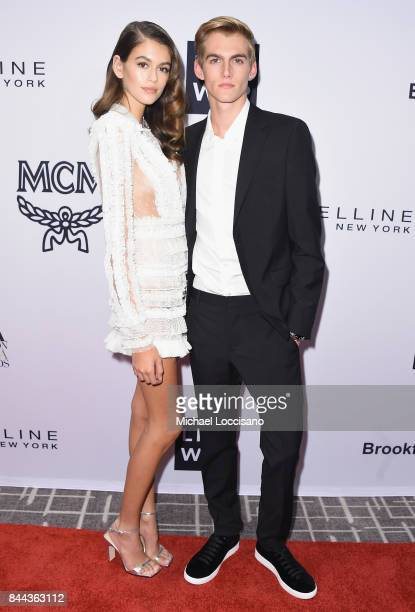 Model Kaia Gerber and Presley Gerber attend the Daily Front Row's Fashion Media Awards at Four Seasons Hotel New York Downtown on September 8 2017 in...