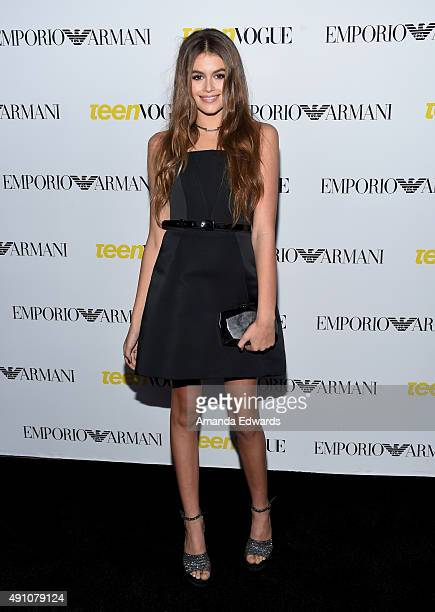 Model Kaia Gerber arrives at Teen Vogue's 13th Annual Young Hollywood Issue Launch Party on October 2 2015 in Los Angeles California