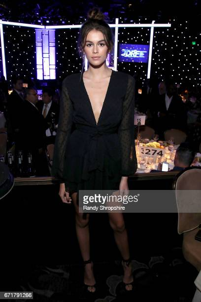 Model Kaia Gerber attends JDRF LA's IMAGINE Gala to benefit type 1 diabetes research at The Beverly Hilton on April 22 2017 in Beverly Hills...