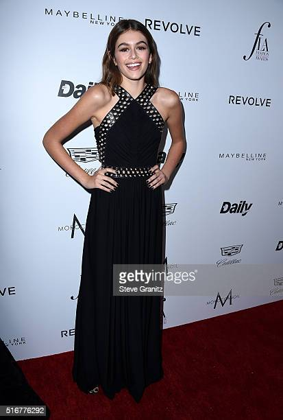 Model Kaia Gerber attends the Daily Front Row 'Fashion Los Angeles Awards' at Sunset Tower Hotel on March 20 2016 in West Hollywood California