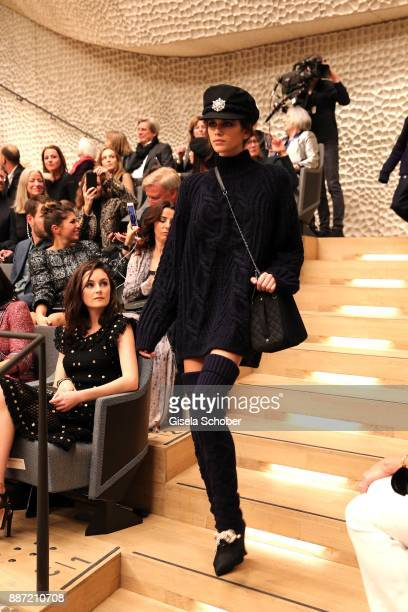 Model Kaia Gerber daughter of Cindy Crawfordduring the Chanel 'Trombinoscope' collection Metiers d'Art 2017/18 show at Elbphilharmonie on December 6...