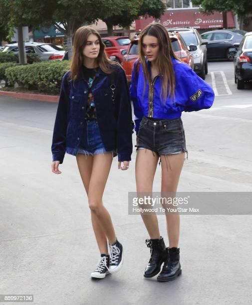 Model Kaia Gerber is seen on December 10 2017 in Los Angeles CA