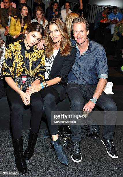 Model Kaia Gerber model Cindy Crawford and businessman Rande Gerber attend the Moschino Spring/Summer17 Menswear and Women's Resort Collection during...