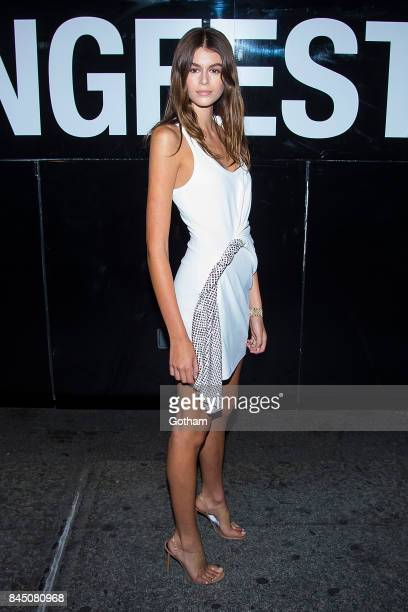 Model Kaia Gerber seen during the Alexander Wang show during New York Fashion Week September 2017 collections on September 9 2017 in New York City