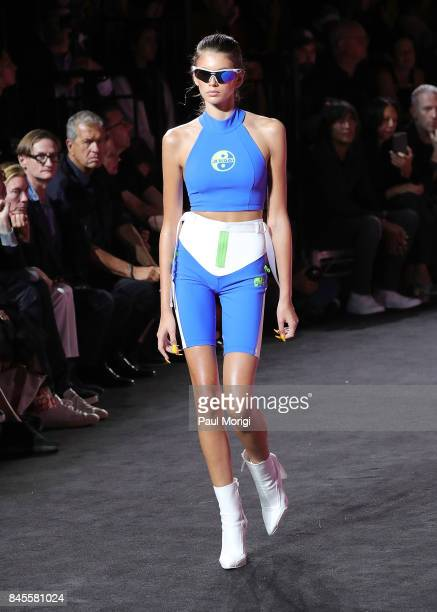 Model Kaia Gerber walks the runway at the Fenty Puma by Rihanna show during New York Fashion Week at the 69th Regiment Armory on September 10 2017 in...