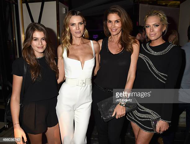Model Kaia Jordan Gerber actress Sara Foster model Cindy Crawford and acress Erin Foster attend VH1's 'Barely Famous' premiere screening and party at...