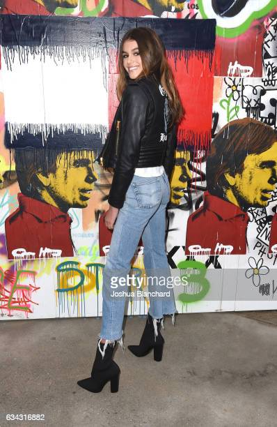 Model Kaia Jordan Gerber at the TommyLand Tommy Hilfiger Spring 2017 Fashion Show on February 8 2017 in Venice California
