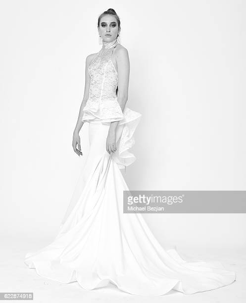 Model Kaidan D poses for portrait at 'Front Row' Fashion Shoot at The SAP The Starving Artists Project on November 12 2016 in Los Angeles California