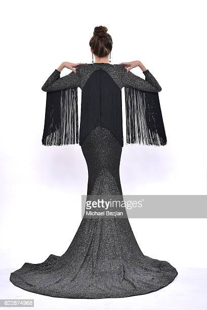 Model Kaidan D poses for portrait wearing Usama Ishtay SS17 at 'Front Row' Fashion Shoot at The SAP The Starving Artists Project on November 12 2016...