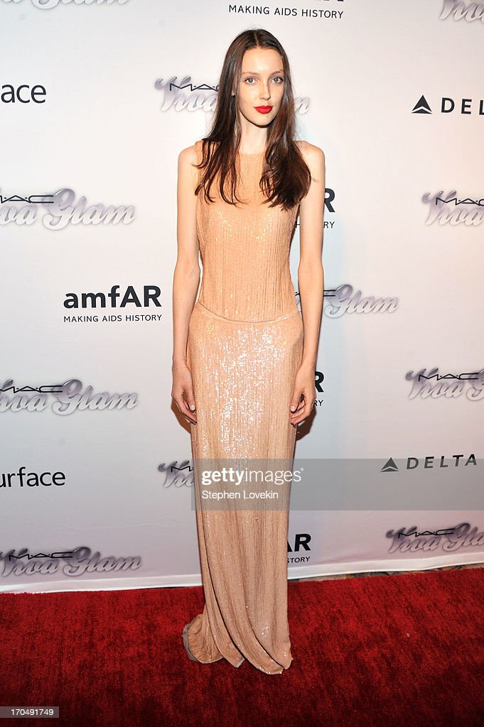 Model Kaila Hart attends the 4th Annual amfAR Inspiration Gala New York at The Plaza Hotel on June 13, 2013 in New York City.