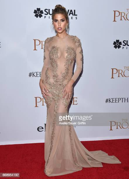 Model Kara Del Toro arrives at the Premiere of Open Road Films' 'The Promise' at TCL Chinese Theatre on April 12 2017 in Hollywood California
