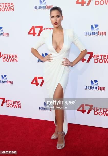 Model Kara Del Toro attends the premiere of Dimension Films' '47 Meters Down' at Regency Village Theatre on June 12 2017 in Westwood California