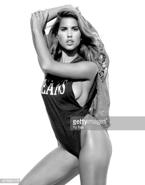 Model Kara Del Toro is photographed for a Guess x Flaunt Magazine on October 26 2016 in Los Angeles California