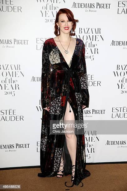 Model Karen Elson attends Harper's Bazaar Women of the Year Awards at Claridge's Hotel on November 3 2015 in London England