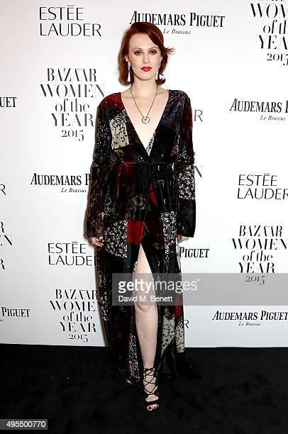 Model Karen Elson attends the Harper's Bazaar Women of the Year Awards 2015 at Claridges Hotel on November 3 2015 in London England