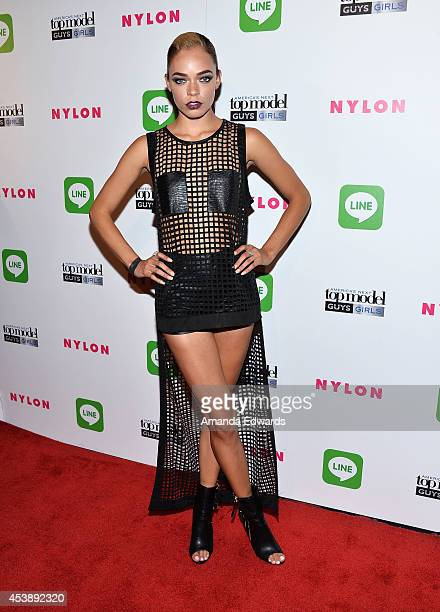Model Kari Calhoun arrives at the America's Next Top Model Cycle 21 Premiere Party Presented By NYLON and LINE at SupperClub Los Angeles on August 20...
