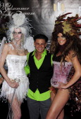 Model Karlee Klow television personality Pauly D and television host/model Candice Dickerson arrive for 'A Midsummer Night's Dream' at The Palms...