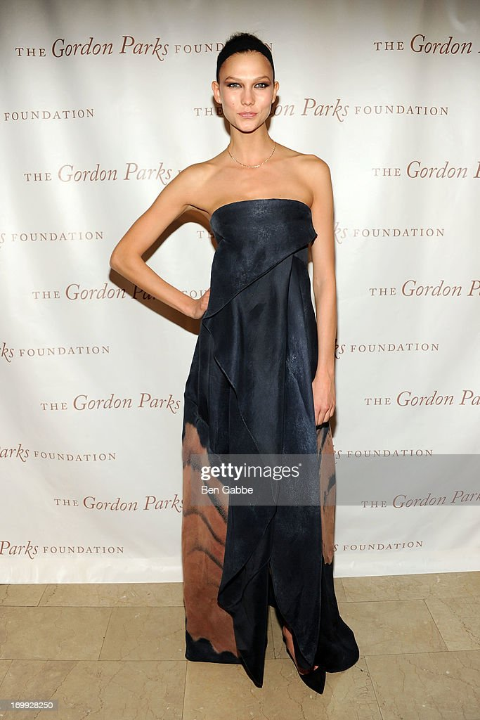 Model <a gi-track='captionPersonalityLinkClicked' href=/galleries/search?phrase=Karlie+Kloss&family=editorial&specificpeople=5555876 ng-click='$event.stopPropagation()'>Karlie Kloss</a> attends 2013 Gordon Parks Foundation Awards at The Plaza Hotel on June 4, 2013 in New York City.