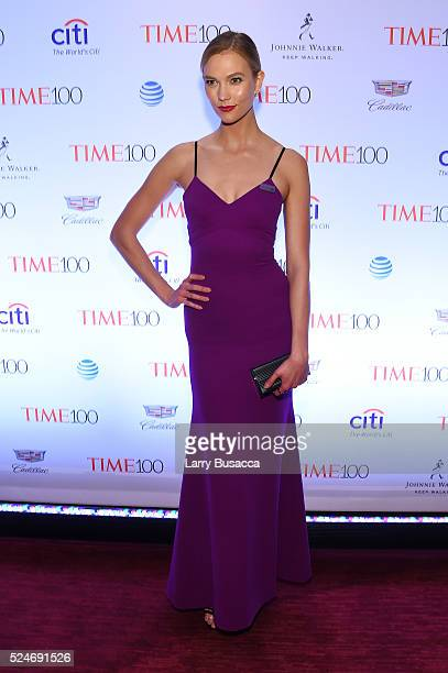 Model Karlie Kloss attends 2016 Time 100 Gala Time's Most Influential People In The World Cocktails at Jazz At Lincoln Center at the Times Warner...
