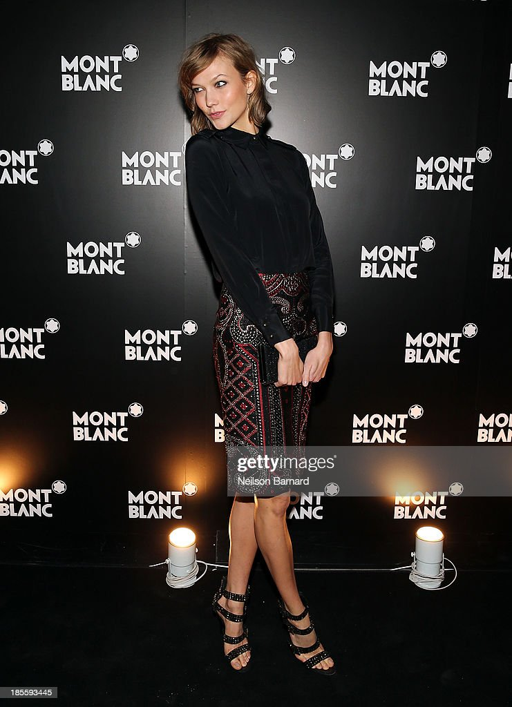 Model <a gi-track='captionPersonalityLinkClicked' href=/galleries/search?phrase=Karlie+Kloss&family=editorial&specificpeople=5555876 ng-click='$event.stopPropagation()'>Karlie Kloss</a> attends Montblanc celebrates Madison Avenue Boutique Opening at Montblanc Boutique on Madison Avenue on October 22, 2013 in New York City.