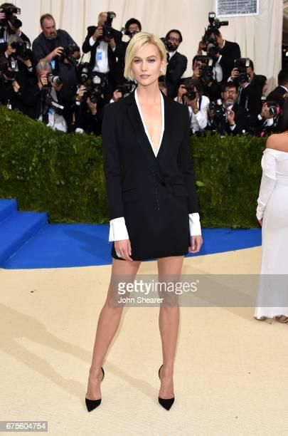 Model Karlie Kloss attends 'Rei Kawakubo/Comme des Garcons Art Of The InBetween' Costume Institute Gala at Metropolitan Museum of Art on May 1 2017...