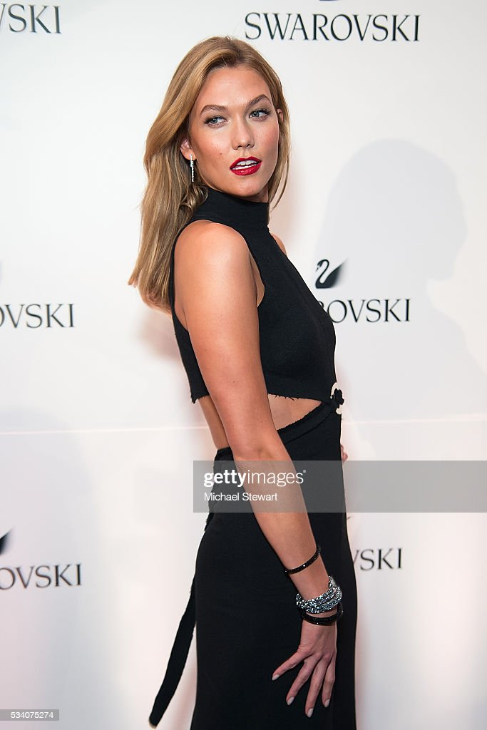 Model <a gi-track='captionPersonalityLinkClicked' href=/galleries/search?phrase=Karlie+Kloss&family=editorial&specificpeople=5555876 ng-click='$event.stopPropagation()'>Karlie Kloss</a> attends Swarovski #bebrilliant at The Weather Room at Top of the Rock on May 24, 2016 in New York City.