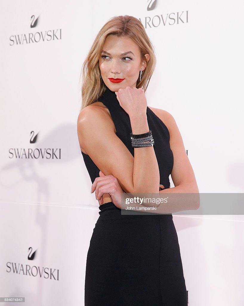Model <a gi-track='captionPersonalityLinkClicked' href=/galleries/search?phrase=Karlie+Kloss&family=editorial&specificpeople=5555876 ng-click='$event.stopPropagation()'>Karlie Kloss</a> attends Swarovski #bebrilliant on May 24, 2016 in New York City.