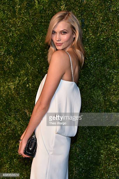 Model Karlie Kloss attends the 11th annual CFDA/Vogue Fashion Fund Awards at Spring Studios on November 3 2014 in New York City