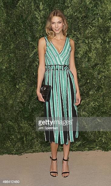 Model Karlie Kloss attends the 12th annual CFDA/Vogue Fashion Fund Awards at Spring Studios on November 2 2015 in New York City