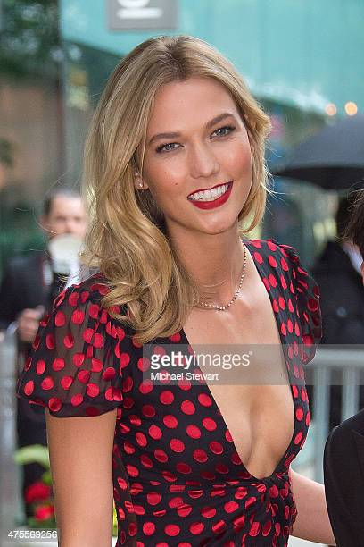 Model Karlie Kloss attends the 2015 CFDA Fashion Awards Sightings at Alice Tully Hall at Lincoln Center on June 1 2015 in New York City