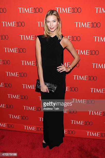 Model Karlie Kloss attends the 2015 Time 100 Gala at Frederick P Rose Hall Jazz at Lincoln Center on April 21 2015 in New York City