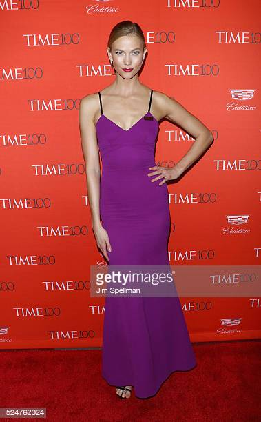 Model Karlie Kloss attends the 2016 Time 100 Gala at Frederick P Rose Hall Jazz at Lincoln Center on April 26 2016 in New York City