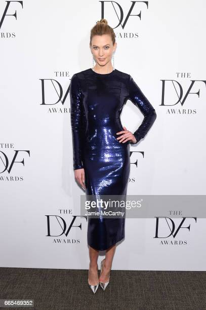 Model Karlie Kloss attends the 2017 DVF Awards at United Nations Headquarters on April 6 2017 in New York City