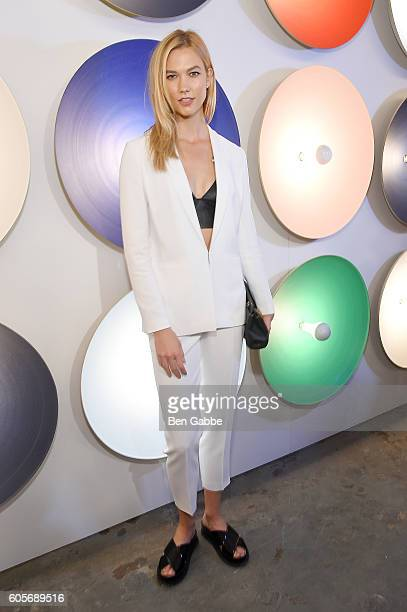 Model Karlie Kloss attends the Boss Womenswear fashion show during New York Fashion Week September 2016 at The Gallery Skylight at Clarkson Sq on...