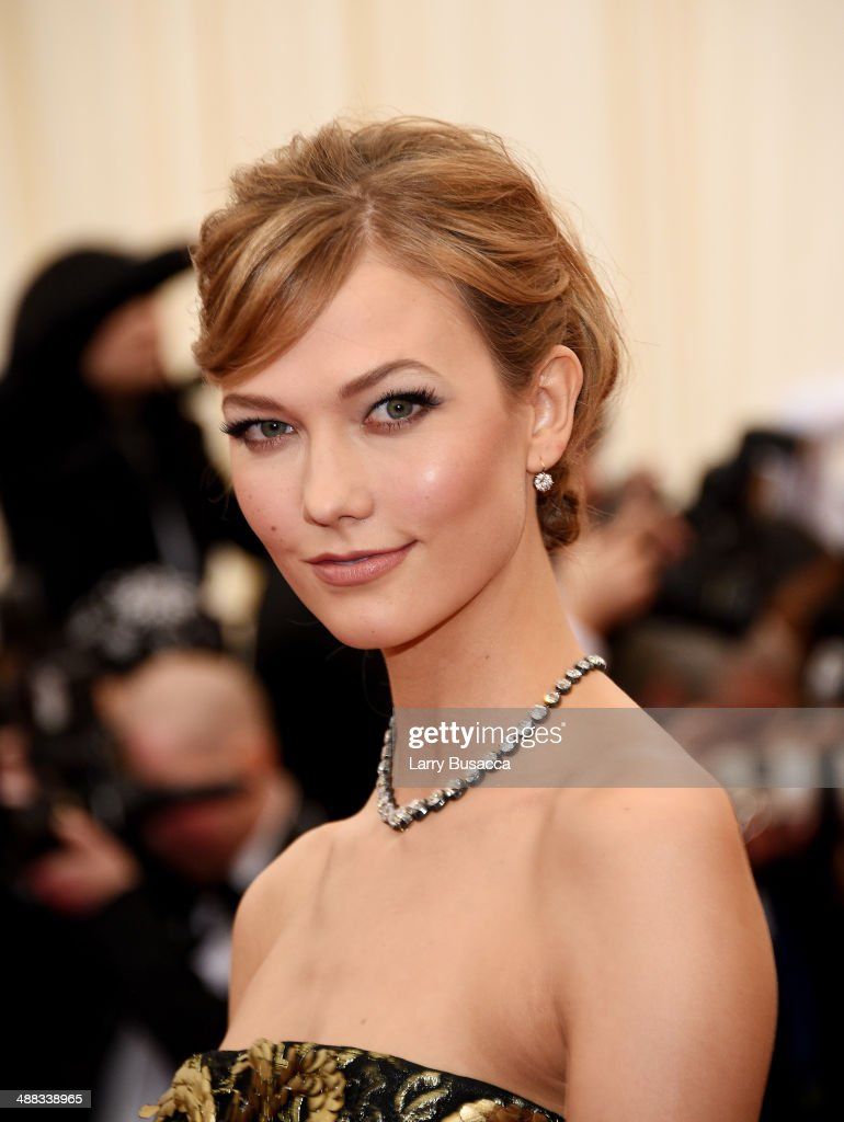 Model Karlie Kloss attends the 'Charles James Beyond Fashion' Costume Institute Gala at the Metropolitan Museum of Art on May 5 2014 in New York City