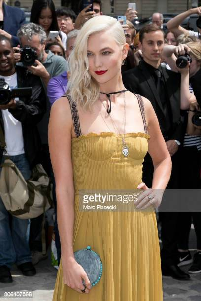 Model Karlie Kloss attends the Christian Dior Haute Couture Fall/Winter 20172018 show as part of Paris Fashion Week on July 3 2017 in Paris France