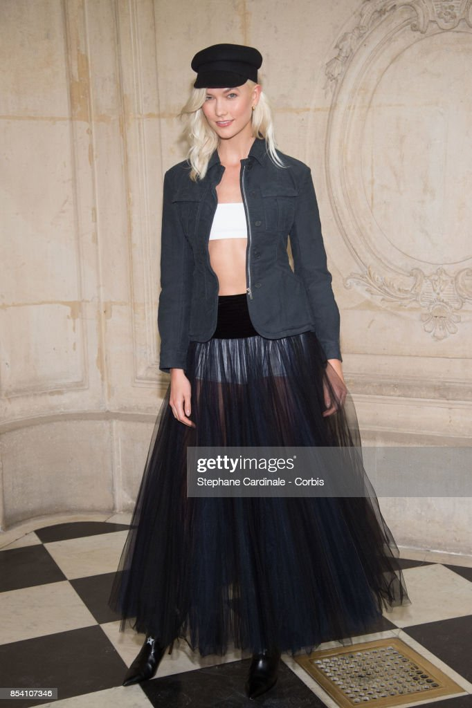 Model Karlie Kloss attends the Christian Dior show as part of the Paris Fashion Week Womenswear Spring/Summer 2018 at on September 26, 2017 in Paris, France.